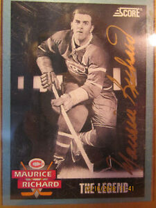"""Autographed"" Maurice Richard Hockey card"