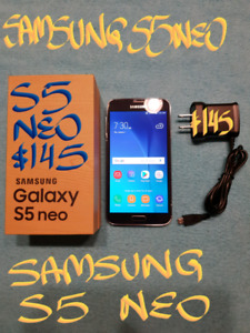TRADEor 145Firm UNLOCKED AMAZING SAMSUNG S5 NEO+box+Charger