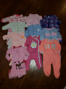 Baby girls clothing lot size 3mths