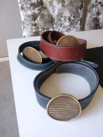 Kudu leather belts