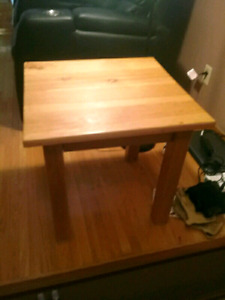 Pine end table  High gloss finish