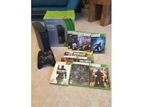 Xbox 360 250gb boxed with 13 games, 2 controllers