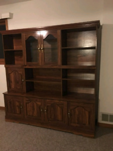 Faux Wood display cabinet