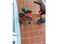 Kids bicycle and scooter