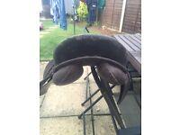 "17"" brown leather saddle"