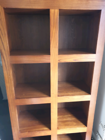 Solid wood bookcase/shelving