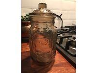 Vintage glass jars