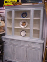 Blue Vintage China Cabinet