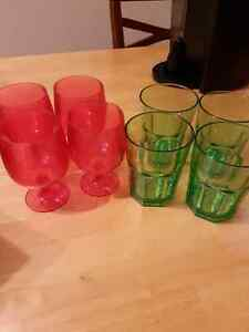 Plastic camping style glasses
