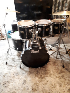 6 pc. Pearl Birch Drums, Sabian Cymbals, Hardware