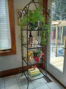 4 Tier Metal and Glass stand