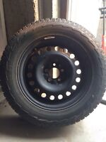 225/65 17 inch winter tires on rims