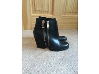 Black Boots River Island size 4