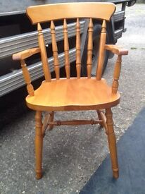 Solid heavy pine chair