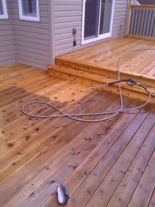 power wash your deck for staining