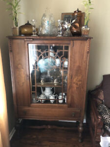 Antique Display Cabinet/Bookcase
