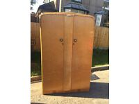Double wardrobe in maple wood in nice condition retro 1960s