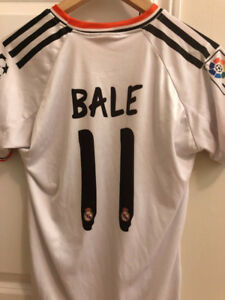 Real Madrid Home Jersey (BALE, RONALDO, BENZEMA) - size S & M