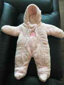 Baby girl fleece snowsuit size 6M