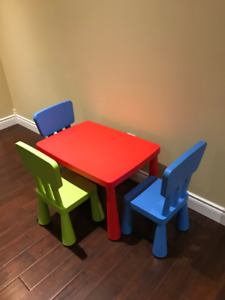 Children`s Table with Chairs