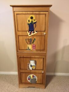 Hand Painted Wood Kitchen Cupboard