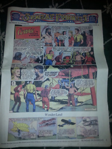 The Sunday Funnies 1938 newspaper - REPRINT