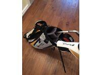 Junior / boys golf clubs and bag