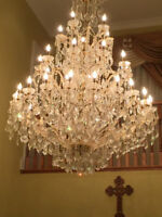 "French Empire Asfour Crystal Chandelier Lighting H90"" x W58"""