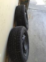 2 Tires for a 2006 Chevy. Tire 195 60 R15