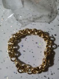 Gold filled luxury 12mm belcher bracelet new 8inches
