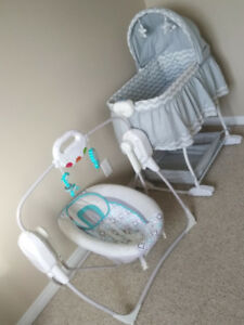 Bily Bassinet and Fisher Price Swing