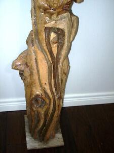 "CHAINSAW CARVING funny UGLY faces FANTASTIC Muskoka YARD ART 42"" Kitchener / Waterloo Kitchener Area image 3"