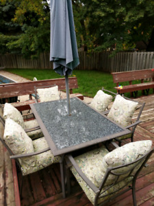 Patio furniture set for 6 persons