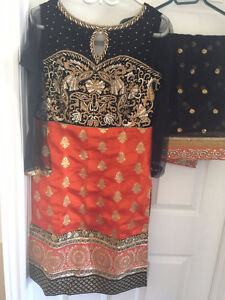 Black and Orange Suit. Worn once only!