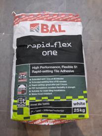 2 X 20kg BAL Rapid flex 1 tile adhesive