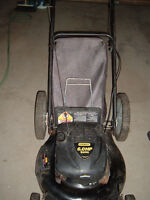 Used gas lawn mower Stanley Quantum with grass catcher