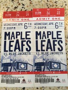 Toronto Maple Leafs Vs Blue Jackets