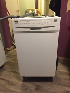 "Kenmore 18"" Compact Built-In Dishwasher in White"