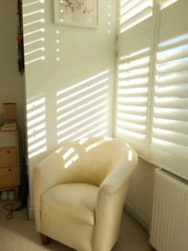 Stylish and comfortable cream armchair
