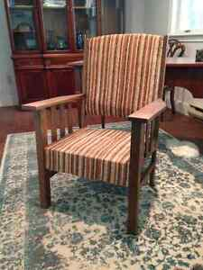 Solid oak Mission Style chair
