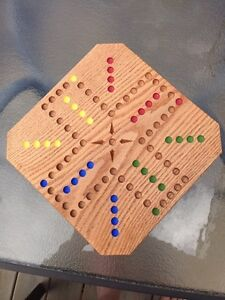 Aggravation game board.