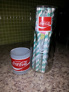 Verre coca cola, articles coke, verre coke et pot coca cola