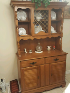Dining room table, buffet and hutch. Moving sale - great deal!