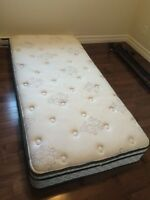 Single / Twin Pillow Top Bed, Box Spring & Frame