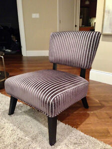 Pin-Striped Accent Chair