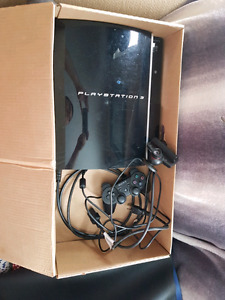 PS3 with remote cables and webcam