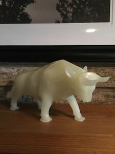 Alabaster Bull Figurine Kitchener / Waterloo Kitchener Area image 2