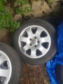 "Audi alloys wheels 5x112 vw seat skoda Mercedes 15"""