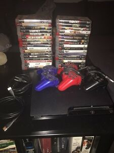 PS3 250G + HDMI Cord + 3 Controllers + 36 Games