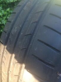 Pair of Dunlop Tyres 195/55/R15